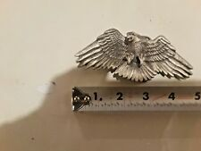 solid fine pewter #4440 Vintage American Eagle Belt Buckle