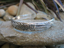 Tibetan Silver Vintage Bohemian Hippie Tribal Retro Flower Cuff Bracelet Bangle