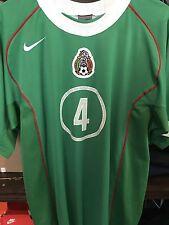 Authentic 2004 Nike Mexico Soccer Jersey Rafa Marquez L El Tri Rare Fit ol