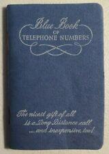 Vintage Unused Blue Book of Telephone Numbers, Phone Directory Book