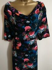 Monsoon Black Floral Dress - size 20 - Lovely