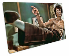 BRUCE LEE CANVAS WALL ART PICTURE LARGE 75 X 50 CM