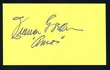 Freeman Gosden DECEASED Radio Actor Signed 3x5 Index Card X0462
