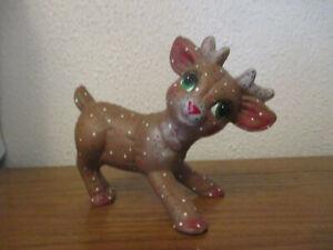 Ceramic Baby Reindeer Figurine