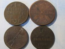 1799 1/2 Skilling - Sweden KM# 549 Plus 3 others  (240 Years Old) 4 Coins