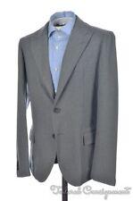 BOTTEGA VENETA Gray 100% Wool Mens Blazer Sport Coat Jacket - EU 48 / US 38