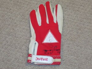 Gary Carter Game Worn Signed Batting Glove Expos Mets HOF JSA
