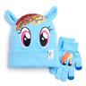 Girls 4-6x My Little Pony Rainbow Dash Sparkle Hat & Gloves Set, Retail $22.00