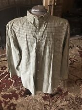 Austin Clothing Co Green Plaid 2XL Button Down Shirt Long Sleeve Wrinkle Resist