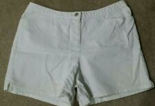 Women's New York & Co. White Denim Pocketed Jean Shorts》Short & Sexy》Size 16