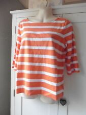 Ralph Lauren Orange & White Stripe Breton Top. L