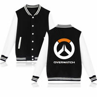 Overwatch D.VA Sweater Baseball Uniform Cosplay Costume Coat Mens/Womens Jacket