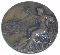 France/ Beautiful Woman Marianne Coat of Arms/ Monument/ BRONZE MEDAL 45 mm N142