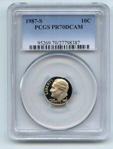 1987 S 10C Roosevelt Dime Proof PCGS PR70DCAM