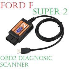 Ford F Super 2 Interfaz USB lector OBD Escáner Herramienta de exploración Focus Mondeo Fiesta Ka