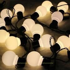 19FT INDOOR OUTDOOR GARDEN WEDDING FESTOON GLOBE BULB FAIRY STRING 20 LED LIGHTS