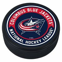 Columbus Blue Jackets 3D Textured Striped NHL Souvenir Hockey Puck