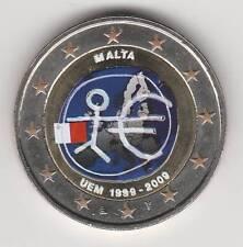 --  2 EURO COULEUR / MALTE 2009A -- 10° ANNIV. DE L'EURO