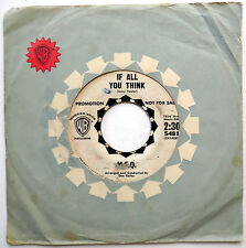 M.F.Q. 45 If All You Think / Love Of A Clown PROMO Mod Beat GARAGE 1964 w2828