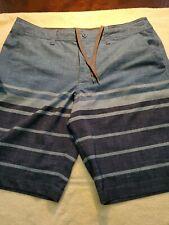 New listing Massimo Supply Company Hybrid swim trunks board shorts men's size 36 blue stripe