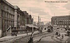 Liverpool,U.K.William Brown Street,Trolley Car,Merseyside,c.1909