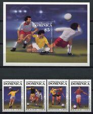Dominica 1986 Fußball WM Soccer FIFA World Cup 949-952 Block 106 Postfrisch MNH