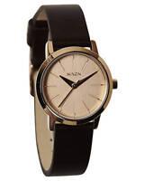 Nixon Kenzi Rose Gold Brown Leather Band Quartz Ladies Watch A398-1890