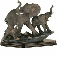 StealStreet SSG54070 Family of Wild Elephant Animals Figurine Statue