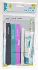 Trim Cuticle Manicure Care Kit. Natural Nail Buffing Kit. 5 Pcs. A1/CMK
