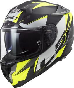 LS2 FF327 Challenger Squadron Motorcycle Helmet Matt Yellow Motorbike Crash Lids