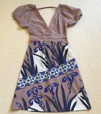 Kookai Dress 6 To 8 cotton silk short sleeve as new stunning