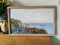 Penarth Pier, Wales Original Oil Painting Welsh Sea Side Picture. Framed, Signed