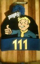 NEW Nuka Cola Fallout 4 Vault Boy Beanie Knit Cap Pom Rare Bethesda