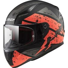 103532451l - Casco Moto Ls2 Rapid Ff353 Deadbolt Matt Black/orange -taglia L-