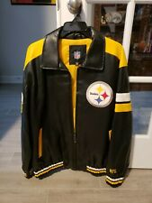 NFL Pittsburgh Steelers Leather Jacket Size L (New)