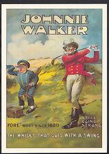 Advertising Postcard - Johnnie Walker Whiskey - Golf Series - Robert Opie  A8453