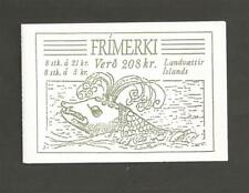 ICELAND -1990 National Arms  - BOOKLET WITH 2 PANES OF 5KR & 21KR STAMPS