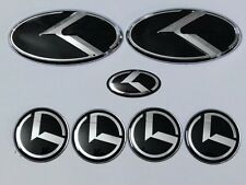 7pcs 3D black K logo badge emblem for KIA new Forte YD K3 2014 2015