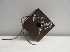 "Vintage 1960's Alfred Hitchcock ""The Birds"" Wooden Book Birdhouse"