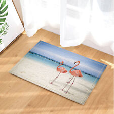 Door Mat Bathroom Rug Bedroom Carpet Bath Mats Rug Flamingo and beach 40*60cm