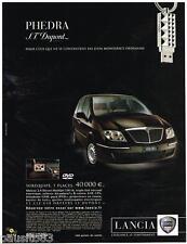 PUBLICITE ADVERTISING 095  2007  LANCIA   la PHEDRA  clé USB DUPONT