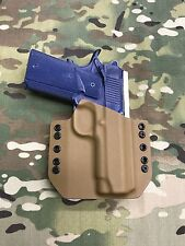 """Coyote Tan Kydex Holster Traditional 4.25"""" 1911 NO Rail"""