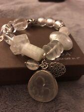 "NWT Silpada Sterling Silver Rock Crystal ""Liquidity Stretch"" Bracelet B2311"