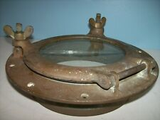 """Antique/Vintage Ship Bronze Porthole - Savaged Bronze Porthole 10"""", 9 lb *NICE*"""