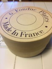 William Sonoma Fondue/Appetizer Divided Plates Made in Varages France Set 6
