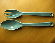 Russel Wright American Modern Seafood salad serving fork and spoon set-NR