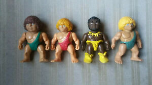 VINTAGE 1987 Playskool DEFINITELY DINOSAURS 4 Different Cavemen Figure Lot