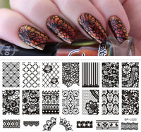 BORN PRETTY Nail Art Stamping Plate Lace Flower Pattern Image Template BP-L020