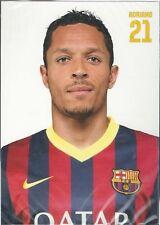 Postal postcard 21 Adriano jug. FC BARCELONA 13/14