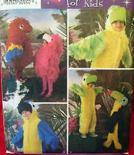 Simplicity 3663 Child BIRD PARROT TUCAN sz 3-8 Costume Sewing Pattern New